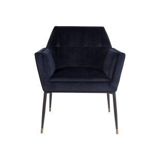 Armchair KATE navy blue - Dutchbone
