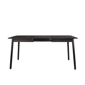Extendable table GLIMPS black - Zuiver