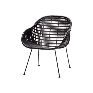 Rattan chair ARM REST Black - Hübsch