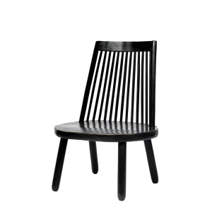 Wood chair black - NORDAL