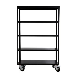 Rack w/4 wheels black - House Doctor