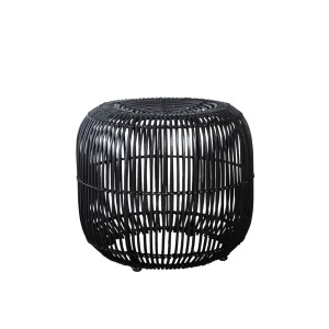 Rattan stool MODERN black - House Doctor