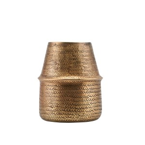 Planter RATTAN brass finish - House Doctor