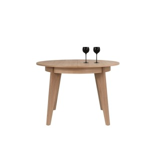 Round table SENALES ST-1703 115/155x115 - Natural oak 25