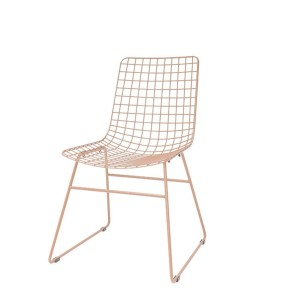 Metal WIRE chair peach-coloured - HKliving