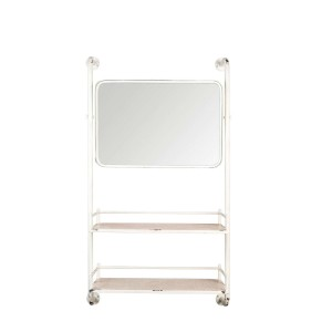 Wall shelf BARBER with mirror - Dutchbone