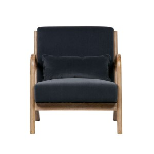 Fotel MARK VELVET antracytowy - Woood