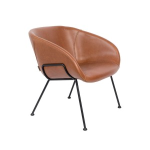 Armchair lounge FESTON brown - Zuiver