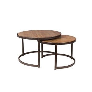 A set of 2 coffee tables JACK - White Label Living