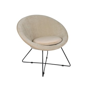Fotel GARBO VELVET off white - Pomax