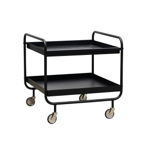 Trolley ROLL short, black - House Doctor