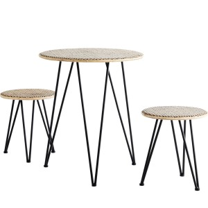 A set of table and stools RATTAN - Madam Stoltz