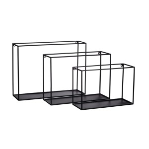 Set of 3 shelves FIGURE black - Pomax