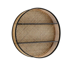 Round shelf BLACK RATTAN - Madam Stoltz