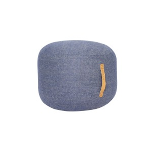 Pouf STRAP ROUND SMALL herringbone, light blue - Hübsch