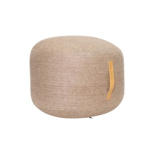 POUF STRAP ROUND SMALL HERRINGBONE, LIGHT brown - Hubsch