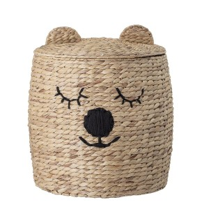 Basket with lid TEDDY - Bloomingville