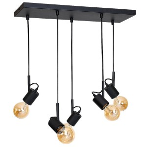 Hanging lamp ALUNA L black- Aldex