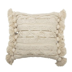 cushion NATURE with fringes  - Bloomingville