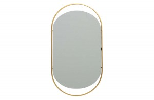 Mirror SANOU L antique brass - Woood