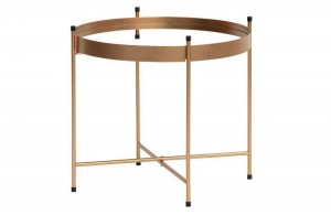 Coffe table FARIS antique brass - Woood