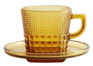 Cup with saucer AMBER  - Nordal