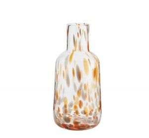 Glass vase DOTTED orange - Madam Stoltz