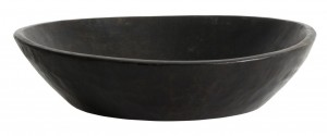 Wooden bowl WOODEN black - Nordal