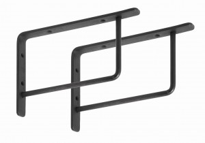 Set of 2 SUPPORT brackets black - Nordal