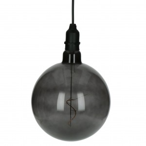 outdoor lamp GLOW/smoked gray/20cm -POMAX
