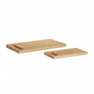 A set of NATURE oak cutting boards  - Hübsch