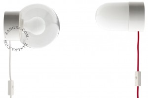 White porcelain lamp - shade to choose from - Zangra