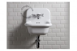 A retro porcelain washbasin white  - Zangra
