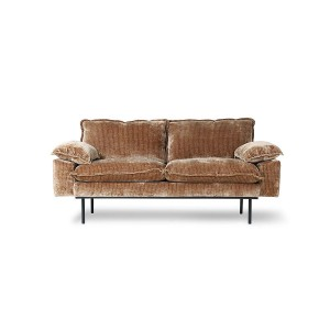 2-seater RETRO sofa velvet corduroyr  - HKliving