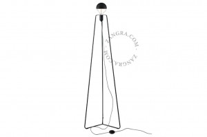 Floor lamp METAL TRIPOD black - Zangra