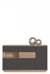 Chest of drawers O2 SENALES emalia antracyt - Fameg