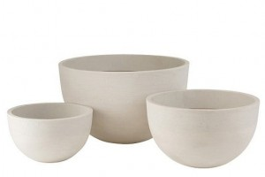 Set of 3 ROUD ceramic Flowerpots - Jolipa