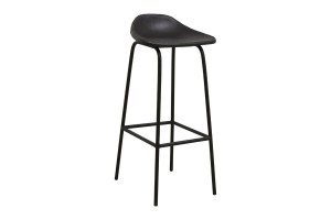 Bar chair GARDA black leather - Nordal