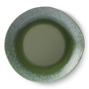 Ceramic dinner plate 70's (2 pcs) ⌀29 green - HKLiving