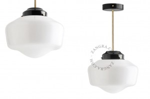 Ceiling lamp .b.go.002 black / brass  - Zangra
