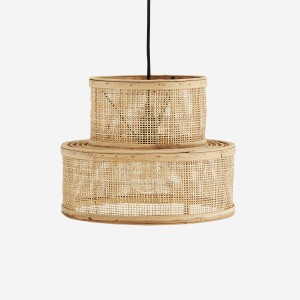 Rattan ceiling lamp Colli -  Madam Stoltz