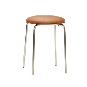 Stool OEKO-TEX metal/PU leather  - Hubsch