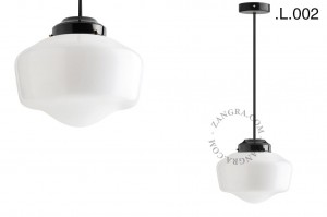 black brass and glass ceiling lamp -Zangra
