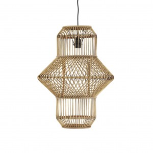 BHAKTI - hanging lamp , bamboo,natural -POMAX