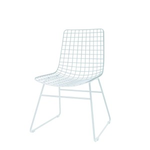 Metal WIRE chair white - HKliving