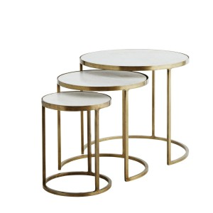 Set of round marble tables - Madam Stoltz