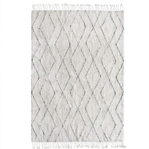 Carpet BERBER with fringes 140 x 200 - HKliving