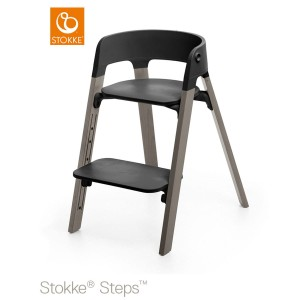 Židlička STOKKE® STEPS™ black/ hazy grey