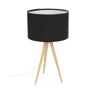Table lamp TRIPOD WOOD black - Zuiver