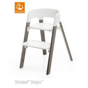 Chair STOKKE® STEPS™ white/ hazy grey